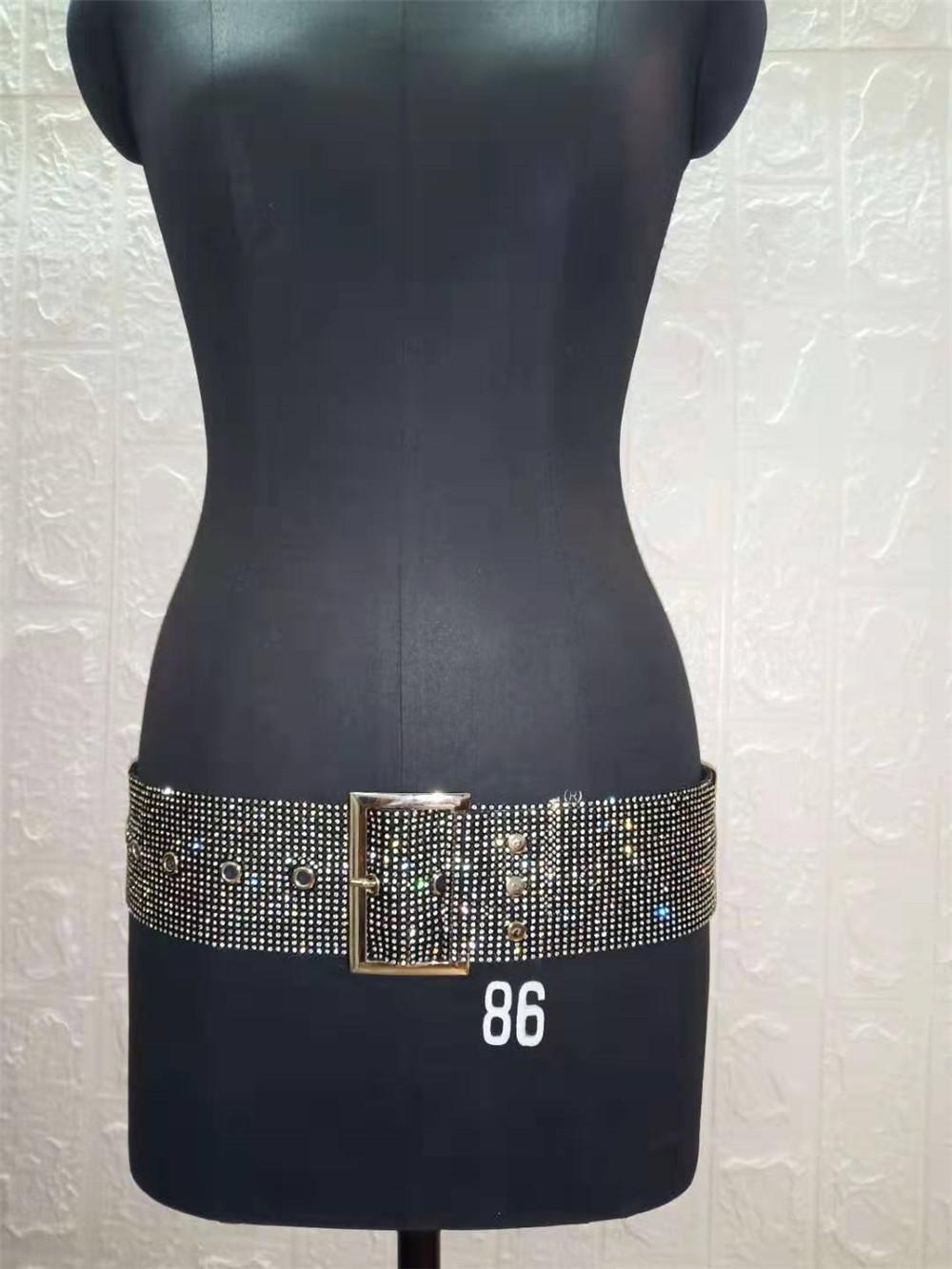 B34351A 2019 Высококачественная Женская одежда для ночного клуба и шоу, пояс с блестками