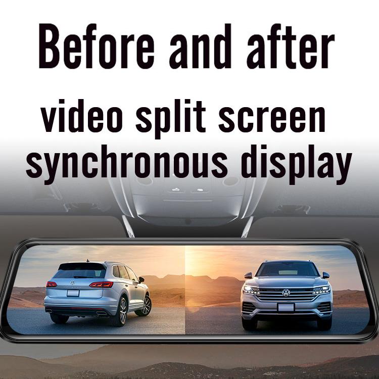 2020 wholesale 1080p 720p Dual IPS Screen Full HD Car DVR Dashboard Camera Recorder Parking Monitor Night Vision Mirror Dash Cam
