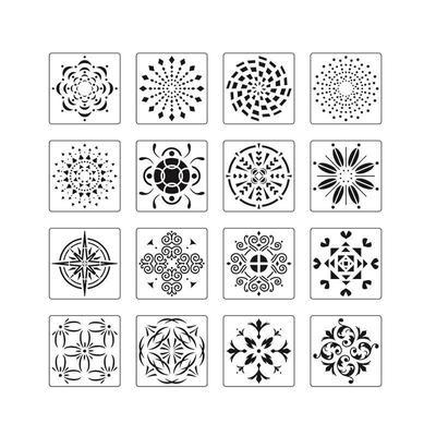 Template Designs Drawing Flower Mandala Stencil Notebook Stencil Art Set