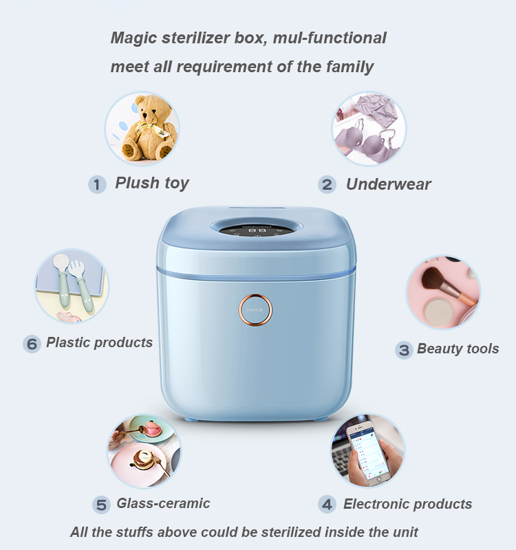 Hot Selling 10L 135W Multi Function Baby Bottle UV Sterilizer Underwear sterilizer with Dryer