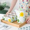 Teapot*1+mug*6+tray*1
