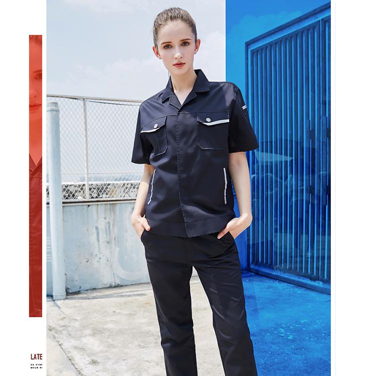 Custom Crew Neck Crop Top Blank ladies office High Quality work uniform