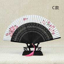 Шелковый японский веер для маленьких и ветряных девочек, Японский складной веер, складной веер из бамбука, Шелковый веер ручной работы(Китай)