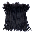 Whosale Price Human Hair Microlocks Sisterlocks Dreadlocks Extensions Full Handmade (Width 0.4cm) 100% Human Hair