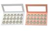 18 pans palette-white,peach