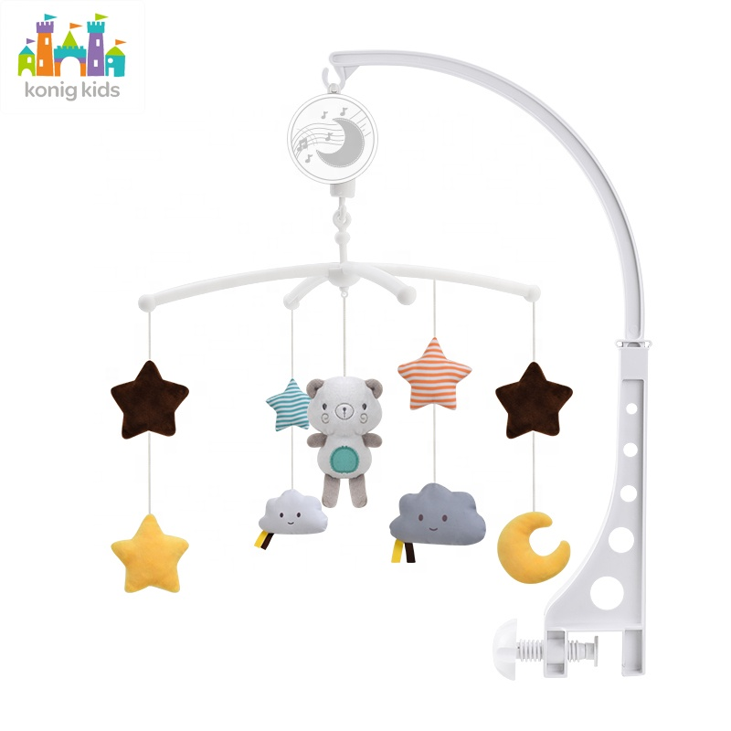 Konig Kids Musical Mobile Baby Phone Crib Bed Toy Music Box Plastic Bell Baby Mobile