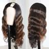 long body wave u part wig