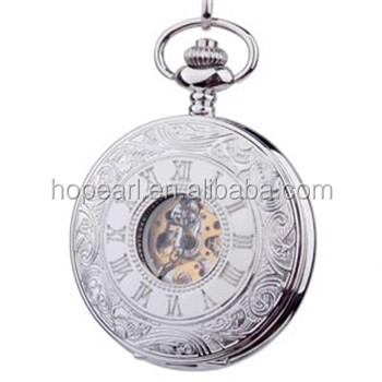 WAH179 Classic Silver Cover Antique Mechanical Hand Wind Pocket Watches