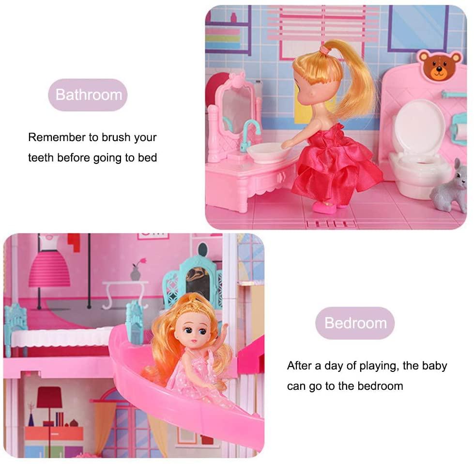 Лидер продаж 2021, пластиковый кукольный домик Габби, игрушка-диорамас, аксессуары для кукольного мини-дома, мебель для детей