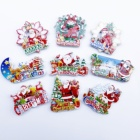 Christmas Fridge Magnet Wholsale Cheap Hot Sale Christmas Santa Claus Souvenir 3d Fridge Magnet Machine Gift