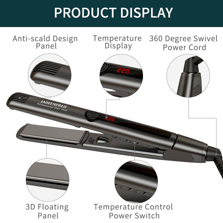 Titanium Thin Plancha Para El Cabello 480F/250C Hair Straightener Flat Iron/