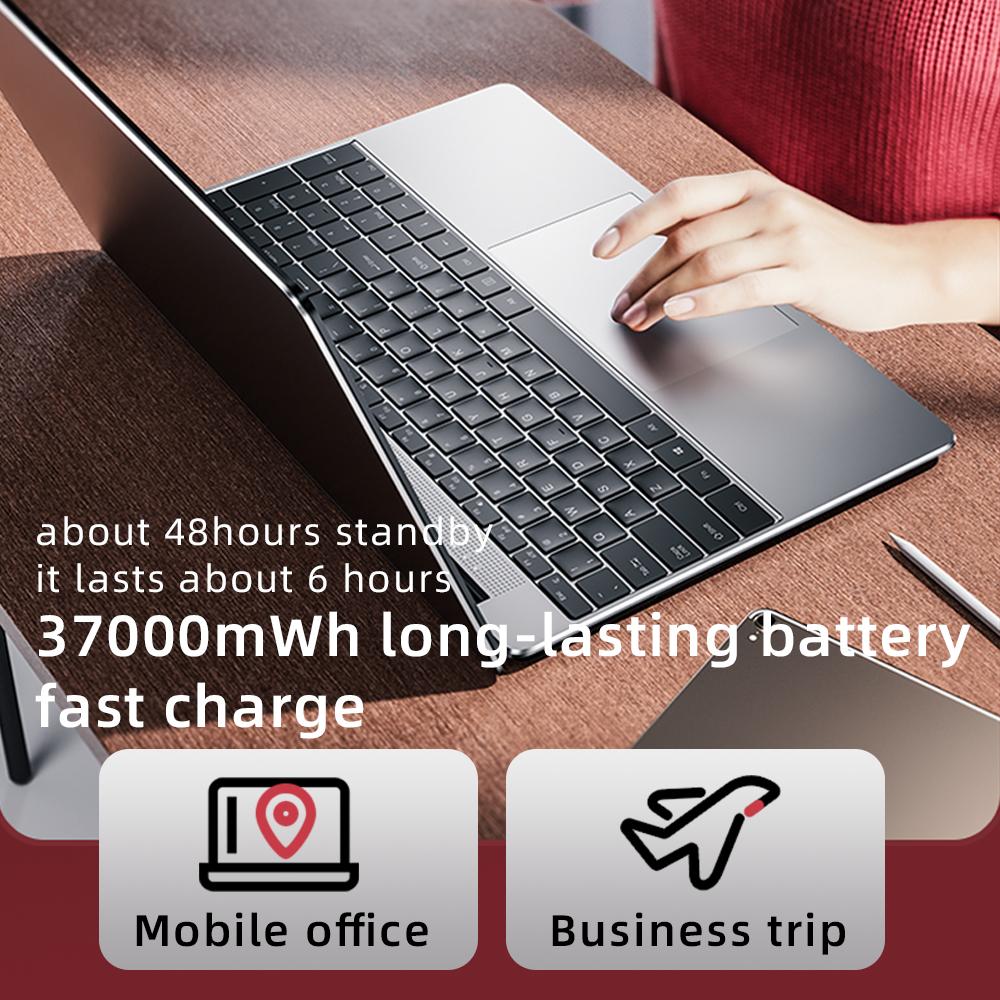 2021 DERE R9 Pro Slim Laptops Itel Jasper lake N5095 LED Backlight 10nm 12GB RAM LPDDR4X 512G SSD Fast Charge Win 10