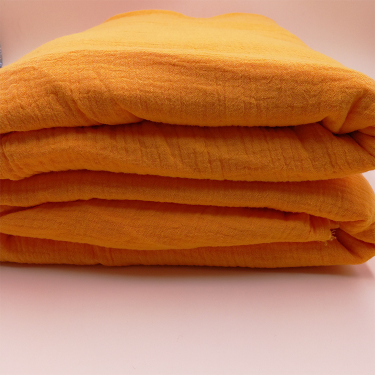 Eco friendly natural 100% organic cotton double gauze muslin cloth fabric for baby blanket