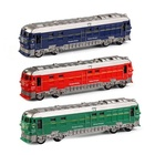 Kids train model friction power car toys 3 colors mixed emulational toy train with light