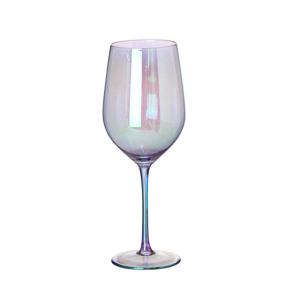 Wholesale Diamond Lead-Free Cut Rim barware champagne purple wedding Red Wine Glass cup