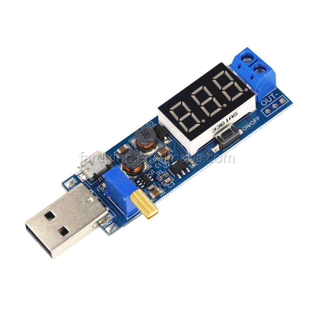 DC-DC 5V to 3.5V/ 9V/12V LCD USB Step UP/Down desktop Power Supply Module Adjustable Boost Buck Converter voltmeter Out 1.2V-24V