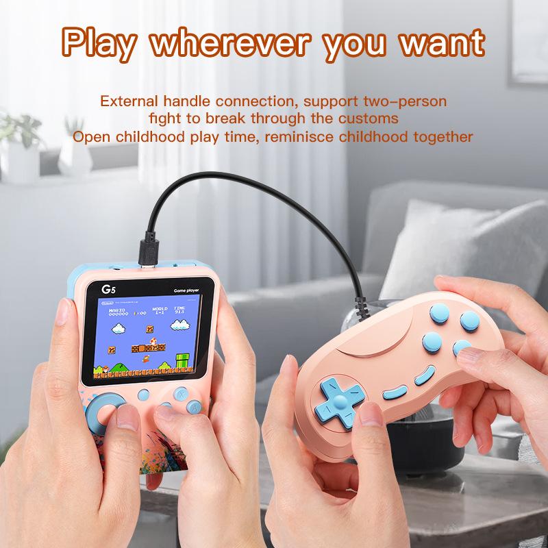 Портативная игровая консоль 500 в 1 в стиле ретро