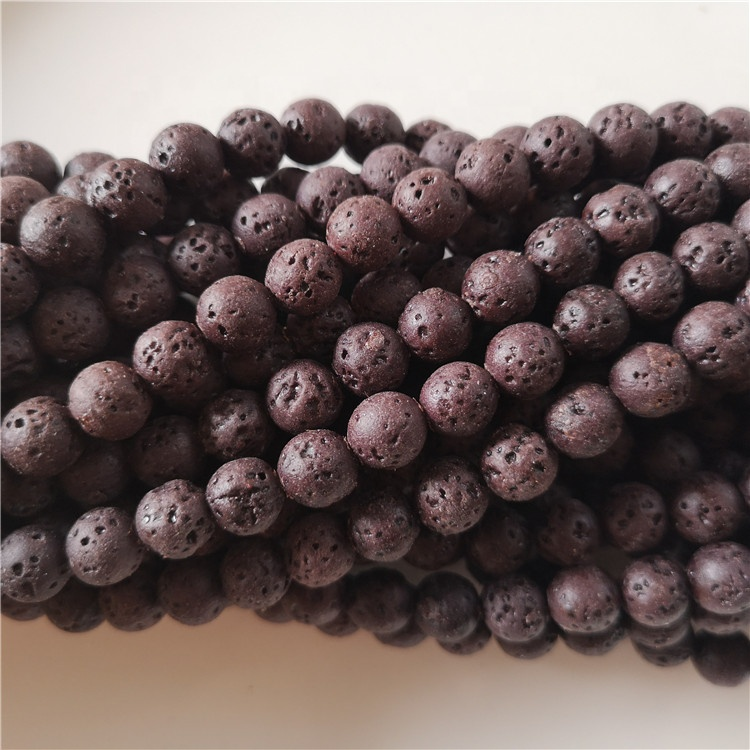6mm colorful lava stone beads natural lava beads