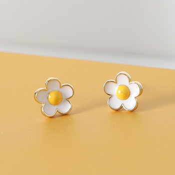Frangipani Design Princess Zirconia Earrings Real 925 Sterling Plain Silver CZ Diamond Earring