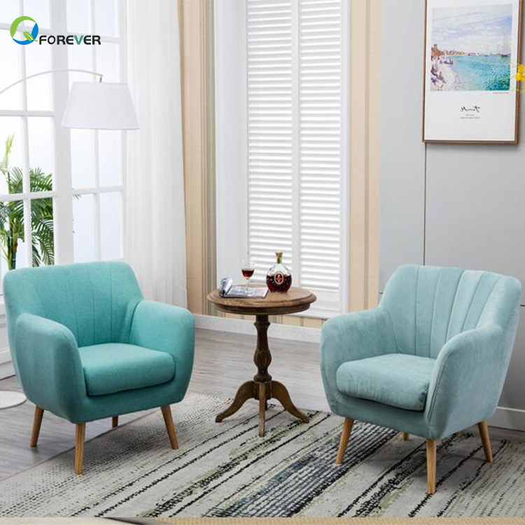 Nordic Modern Bedroom Furniture Lazy Chair Casual Fabric Sofa Chair