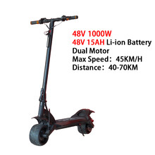 48 в 1000 Вт Электрический скутер с двойным мотором, 8 дюймов, складная доска, скейтборд на ховерборде, 45 км/ч, E скутер patinete electrico adulto(Китай)