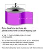 """4 """"X6"""" 1000 Étiquettes Violet"""