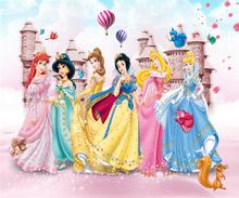 На заказ большие обои росписи детской комнаты Фэнтези Принцесса комната интерьера живопись Настенная ткань(Китай)