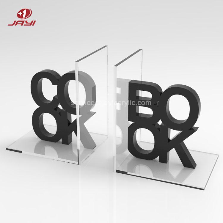 JAYI заказной размер прозрачный акриловый держатель для книг Perspex l-образный акриловый держатель для книг фильмы DVD журналы