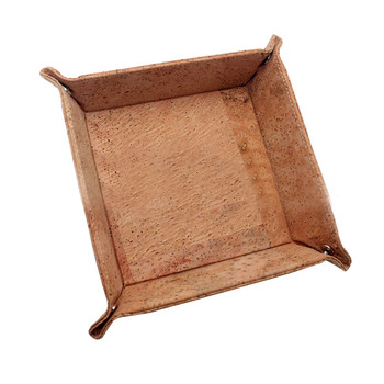 Eco-friendly Gift Cork Jewelry Catchall Key Coin Box cork tray for collection