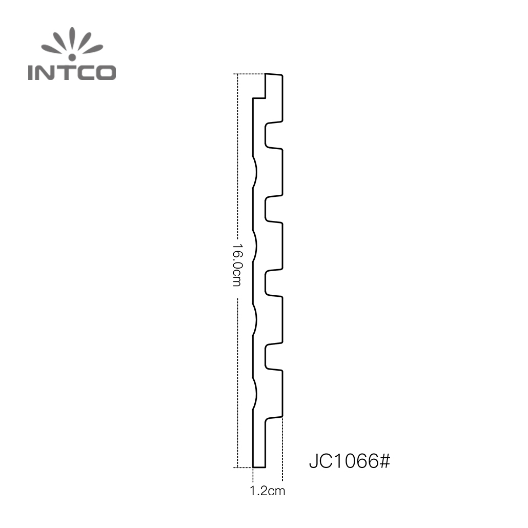 INTCO Waterproof Easy Install Plastic Cornice Baseboard Moulding Indoor Wall decoration 3D Board