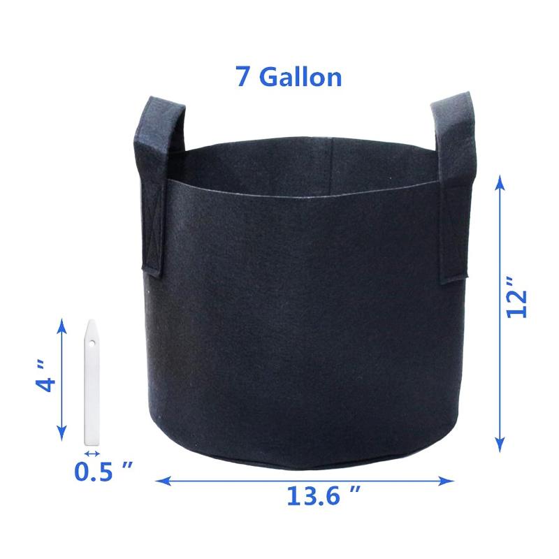 Сверхмощный 300G утолщенные Войлок завод ткань горшки контейнер с прочными ручками для сада Крытый расти сумки