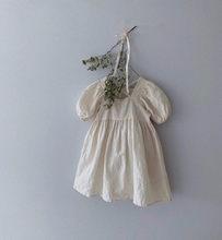 Летние Детские вечерние платья, одежда для маленьких девочек, блузки, платье, повседневное хлопковое льняное платье принцессы с коротким ру...(Китай)