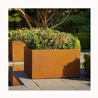Corten Steel Flower Pot Large Vertical Planter Corten Steel Garden Edging round corten steel planter