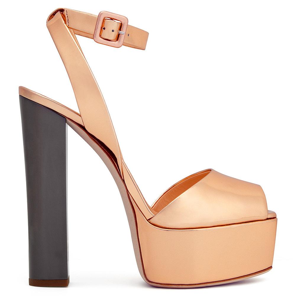 Ladies fish toe platform large sandals high heels pumps size 45 womens shoes