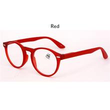 Мужские и женские очки для чтения, модные круглые очки в стиле ретро, красные, синие, черные, мужские винтажные сверхлегкие очки для дальнозо...(China)