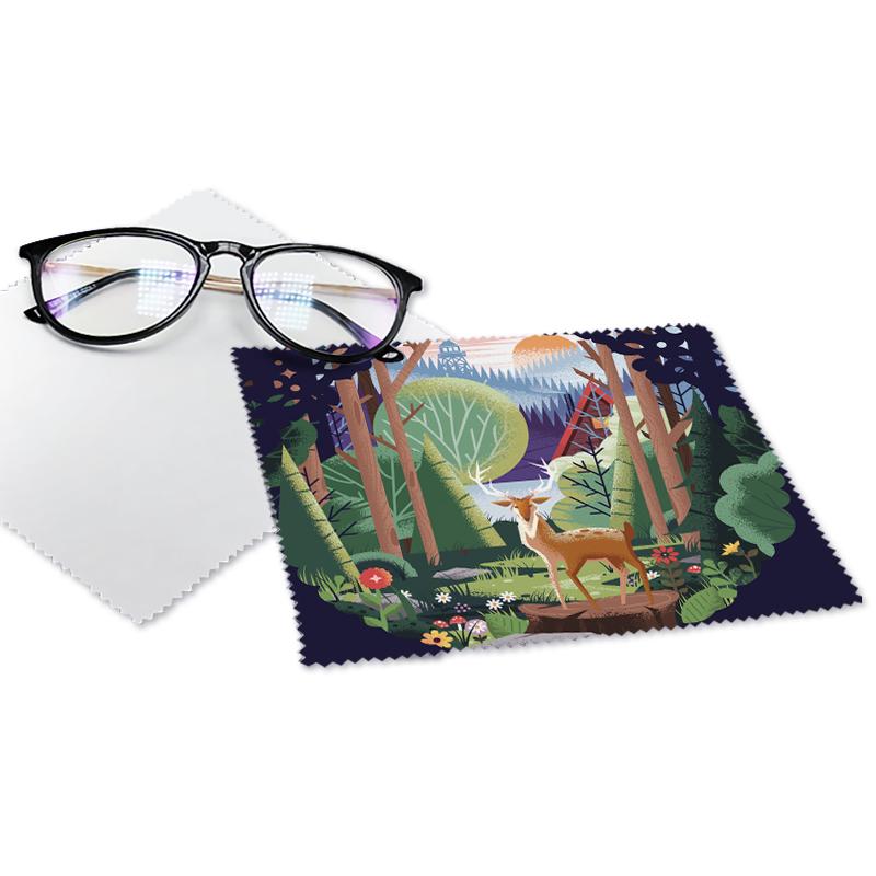 Салфетка для очистки стекол, салфетка для очистки очков, оптовая продажа, напечатанный на заказ логотип из микрофибры, цвет на заказ, Всесезонная, не поддерживает