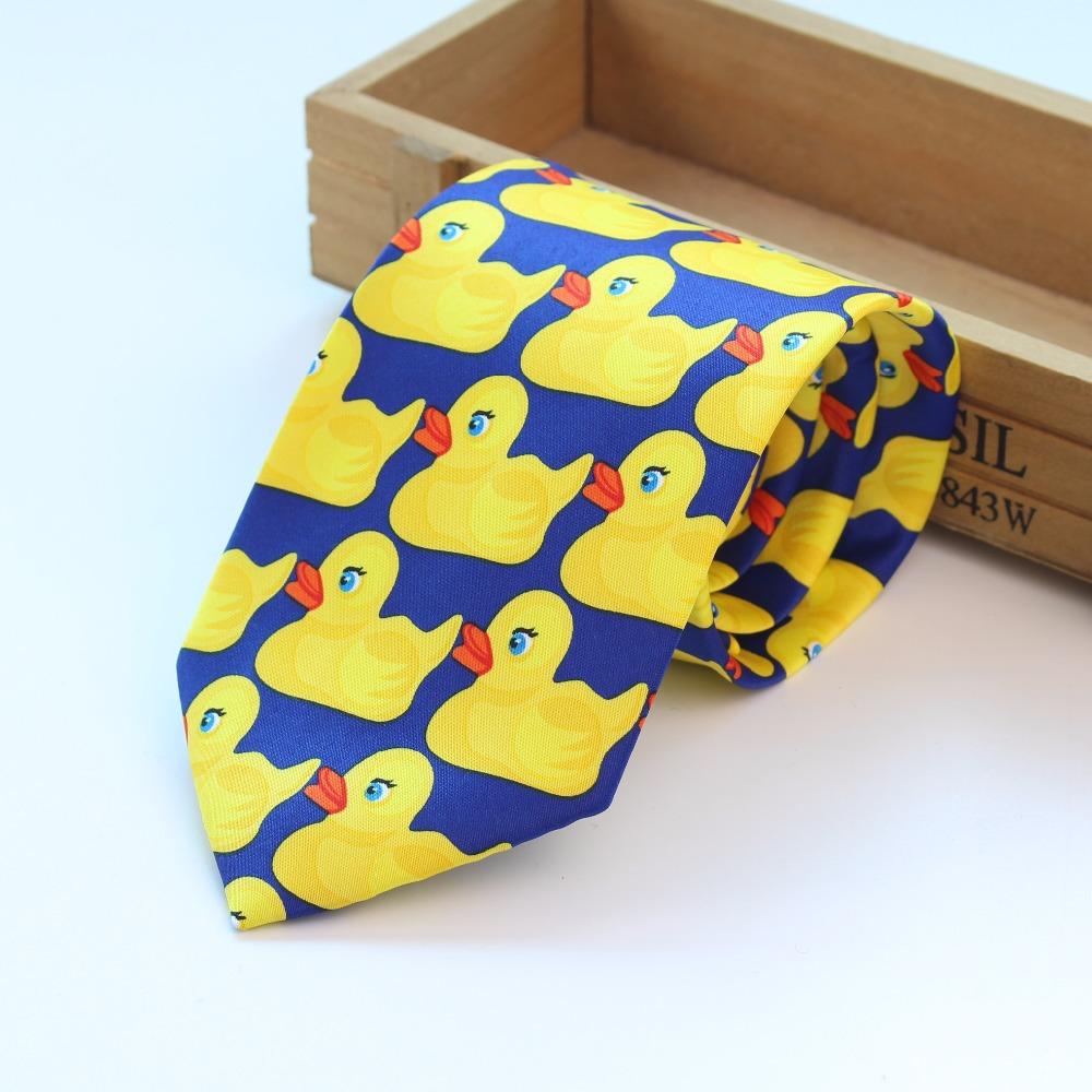 Желтый резиновый галстук для утки мужской модный Повседневный необычный Профессиональный галстук Ducky Галстуки трех размеров