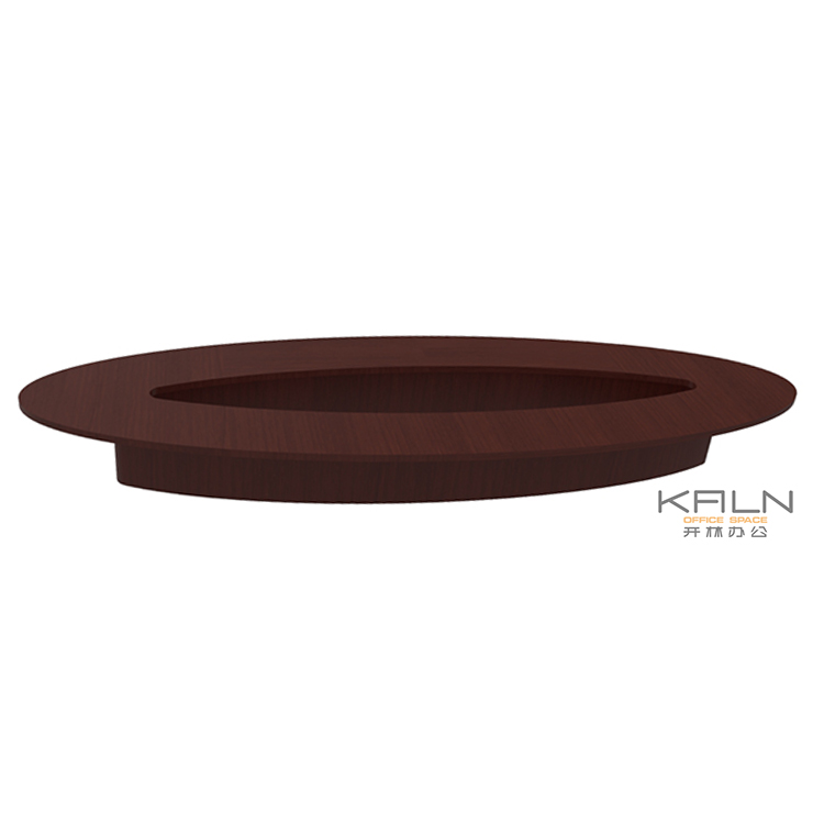 Modern design trade assurance customized OEM conference table solid wooden round large meeting desk Greenguard certification