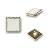 8882#Shiny gold&White  18mm