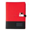 Red wireless power bank notebook+pen+usb