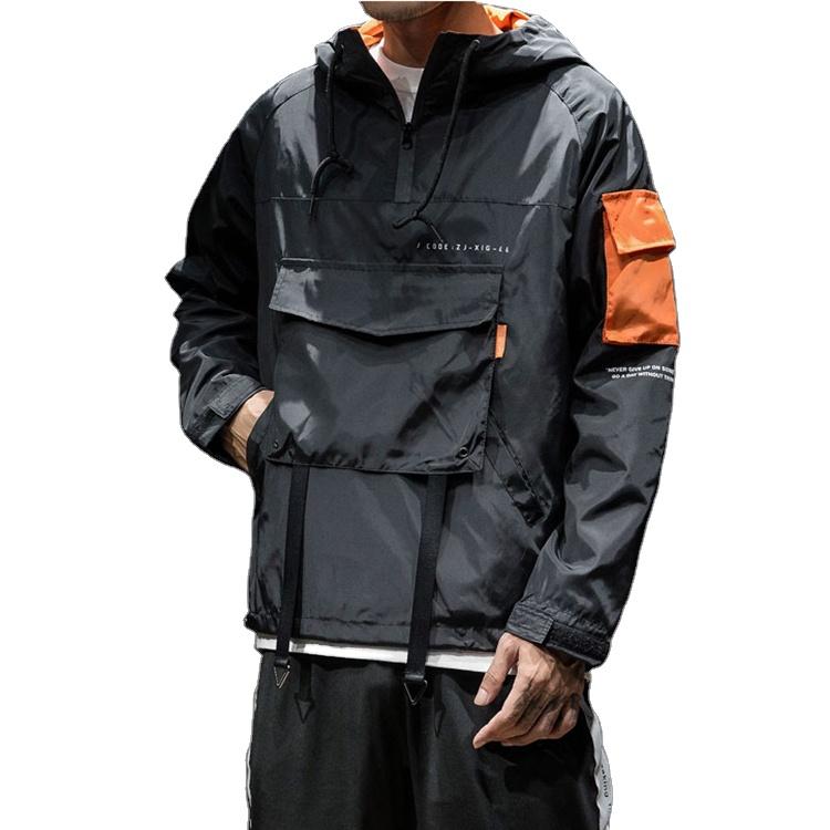 2021 оптовая продажа, модная мужская куртка, пуловер на молнии с логотипом под заказ, уличная одежда с капюшоном, ветровка, куртки
