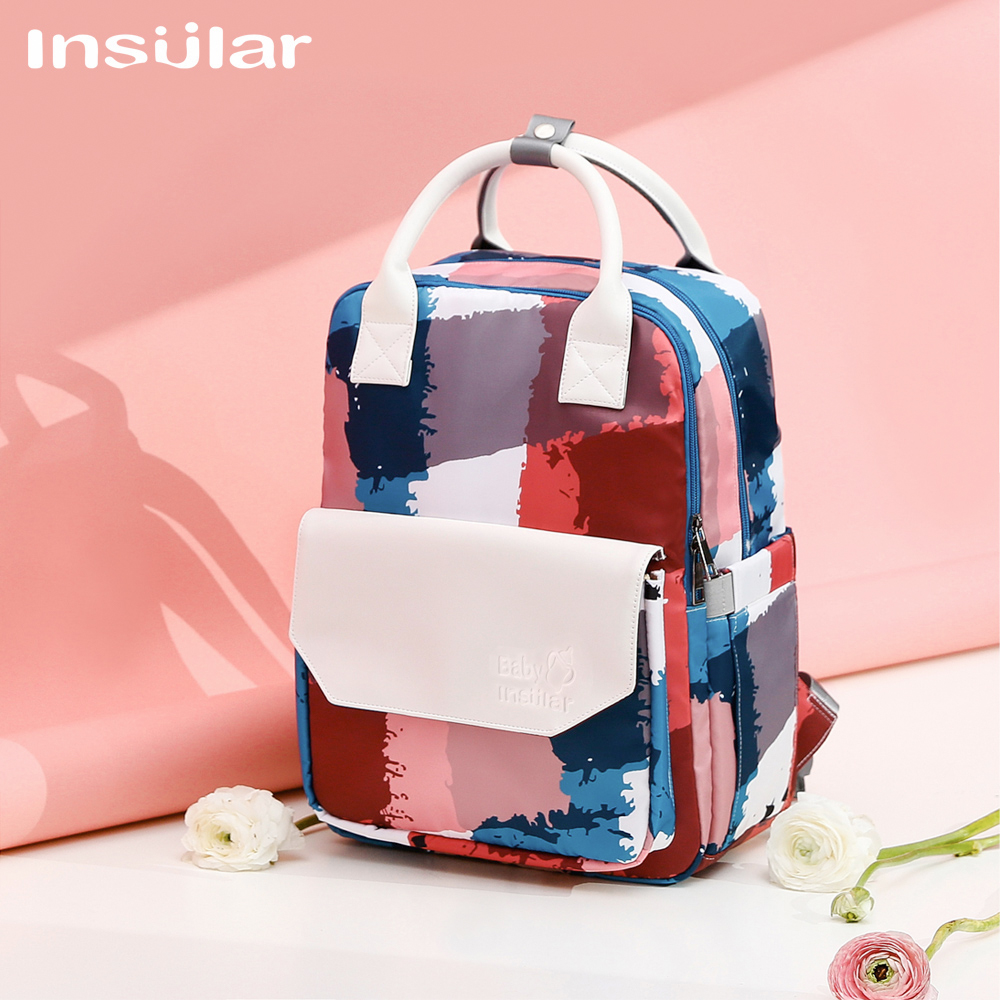 2021 New Wholesale Waterproof Stylish Mommy Bag Large Capacity Outdoor Portable Diaper Stroller Travel Stroller Bag