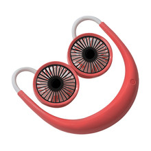 Прямая поставка Регулируемый 7-листный перезаряжаемый вентилятор с мини USB портативный шейный спортивный вентилятор шейный платок Настоль...(Китай)