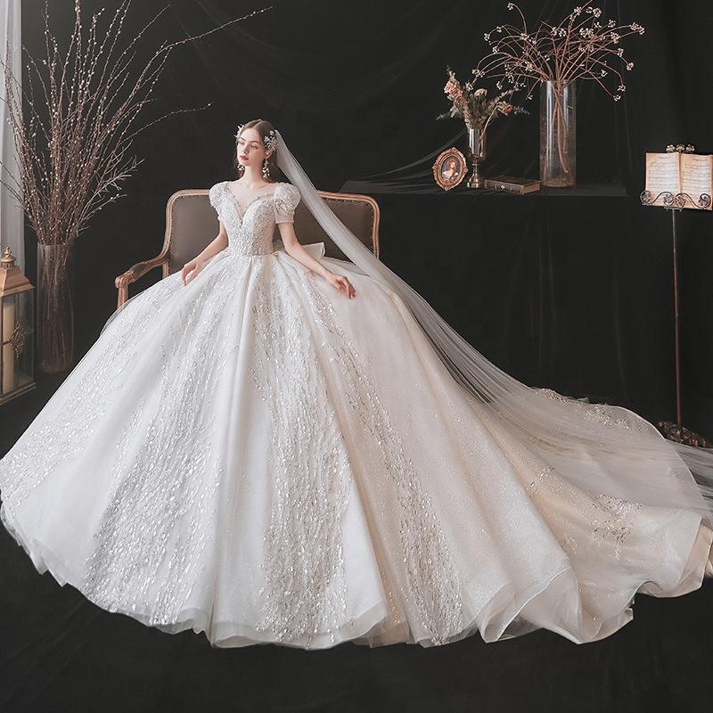 illusion Wedding Dresses Bust Spanish Wedding Dress Pakistan Long ChaoZhou Samoan Weddings Tailor Dress Material
