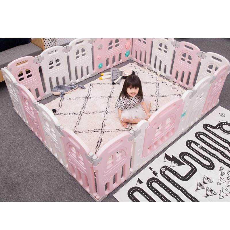 Лидер продаж, Детский Недорогой манеж для игры в помещении на заказ, детский портативный складной манеж, забор, пластиковый манеж для детей