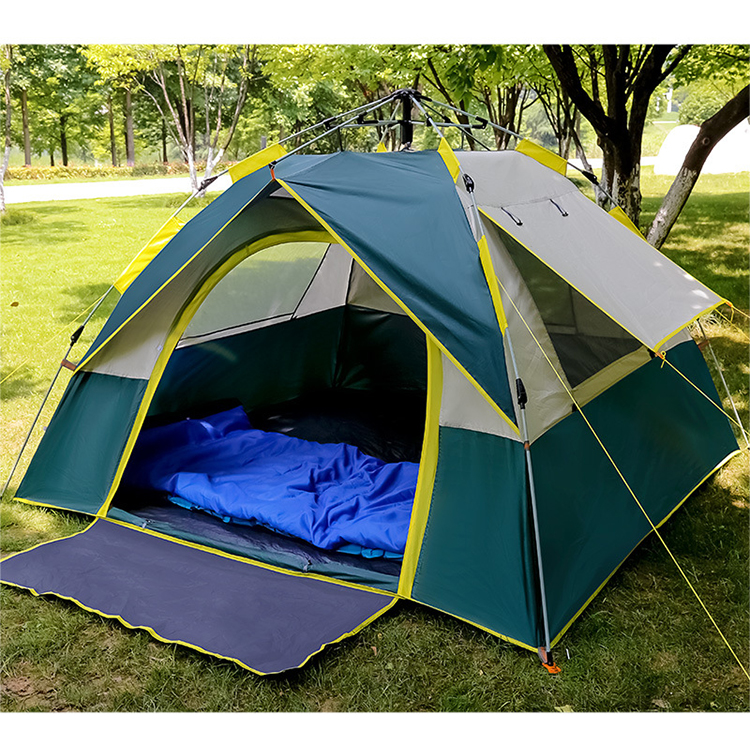 Wholesale outdoor 3-4 person waterproof automatic camping tent Beach tent