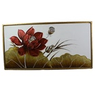 Oil panting Flower Home Decor Name and iron Material Hanging decoration