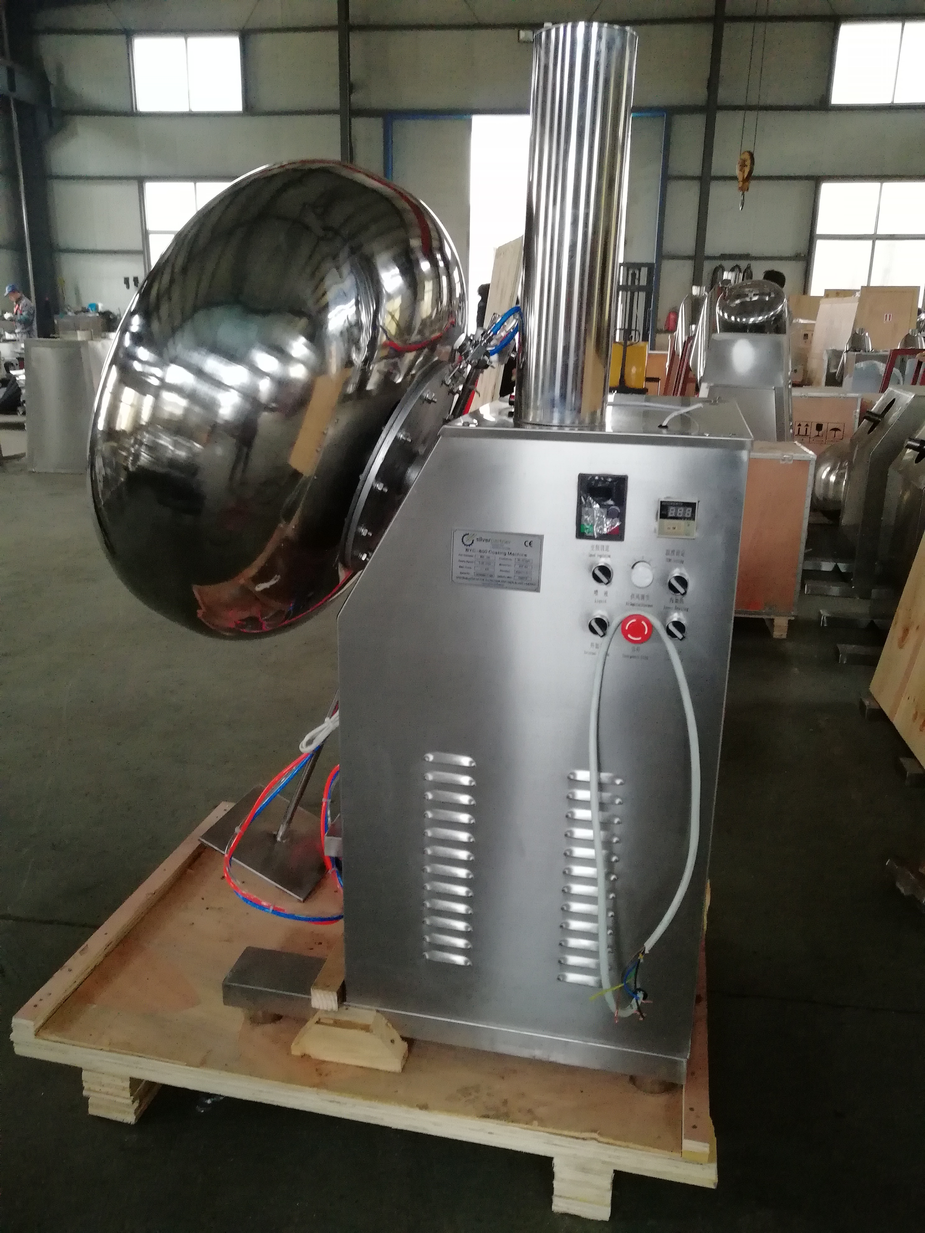 Easy Operation Drum Table Seed Coater Lab Nuts Sugar Polisher Machine Chocolate Coating Machine BYC-800