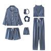 7pcs-Blue stripes
