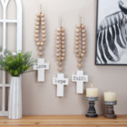 Wooden Wood Bead Wood Wood Sign Wall Decor Custom OEM Wooden Sign Home Decoration Wall Crosses Home Decor Cross Wood Garland Wooden Bead Garland